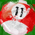 Number Eleven Billiards Ball Abstract Print by David G Paul