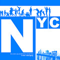 NYC Find yourself in the city Print by Naxart Studio