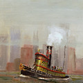 NYC Tug Poster by Christopher Jenkins
