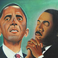 Obama and King Poster by Harry Ellis