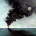 Oil Spill 3 Print by Katherine DuBose Fuerst