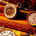 old books and pocket watches Print by Garry Gay