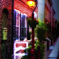 Old City Streets - Elfreth's Alley Print by Bill Cannon