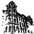 Old Main Building in Fayetteville AR Print by Amanda  Sanford