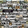 Old Paris Collage Poster by Janos Kovac
