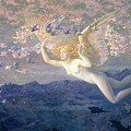 On the Wings of the Morning Print by Edward Robert Hughes