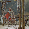 One of the Soldiers with a Spear Pierced His Side Poster by Tissot