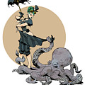 otto by the sea Print by Brian Kesinger