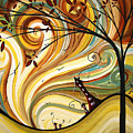 OUT WEST Original MADART Painting Poster by Megan Duncanson