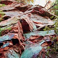 Outcrop at Wildcat Den Print by Jame Hayes