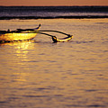 Outrigger and Sunset Print by Joss - Printscapes