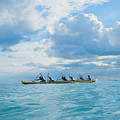 Outrigger Canoe Poster by Bob Abraham - Printscapes