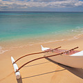 Outrigger on Beach Poster by Dana Edmunds - Printscapes