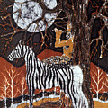 Pan Calls the Moon from Zebra Poster by Carol Law Conklin