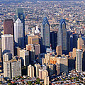 Panoramic Philly Skyline Aerial Photograph Poster by Duncan Pearson