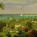 Panoramic View of the Harbour at Nassau in the Bahamas Print by Albert Bierstadt