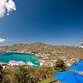 Paradise Point View Of Charlotte Amalie Saint Thomas US Virgin Islands Print by George Oze