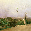 Paris seen from the heights of Montmartre Print by Jean dAlheim