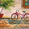 Parked in the Courtyard Print by John  Williams