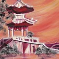 Pavillion in China Poster by Suzanne  Marie Leclair