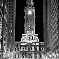 Philadelphia City Hall at Night Poster by Val Black Russian Tourchin