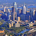 Philadelphia Museum of Art and City Skyline Aerial Panorama Print by Duncan Pearson