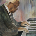 Piano Jazz Poster by Arline Wagner