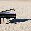 Piano On Beach Poster by Hans Joachim Breuer