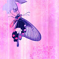 Pink and Purple Companions 1 Print by JQ Licensing