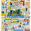 Pittsburghese Print by Ron Magnes