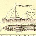 Plan Of Robert Fultons First Steamboat Poster by Everett