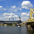 PNC Park and Roberto Clemente Bridge Pittsburgh PA Print by Kristen Vota