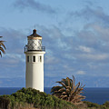 Point Vicente Lighthouse on the cliffs of Palos Verdes California Print by Christine Till