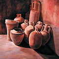 Pompeii - Jars Print by Keith Gantos