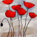 Poppies Painting Poster by Lutz Baar