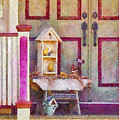 Porch - Cranford NJ - The birdhouse collector Poster by Mike Savad