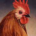 Portrait of a Rooster Poster by James W Johnson