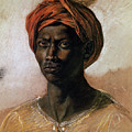Portrait of a Turk in a Turban Poster by Ferdinand Victor Eugene Delacroix