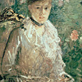 Portrait of a Young Lady Poster by Berthe Morisot