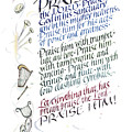 Praise the Lord Print by Judy Dodds