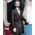 President Abraham Lincoln In Color Print by War Is Hell Store