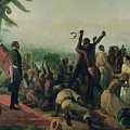 Proclamation of the Abolition of Slavery in the French Colonies Print by Francois Auguste Biard