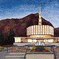Provo Temple Poster by Jeff Brimley