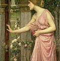 Psyche entering Cupid's Garden Poster by John William Waterhouse