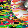 Psychedelic Planetary Journey Print by Roxy Riou