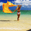 Punaluu Beach Vacation Print by Tomas del Amo - Printscapes