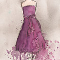 Purple Bow Dress Poster by Lauren Maurer