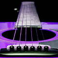 Purple Guitar 15 Poster by Andee Design