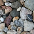 Queen Charlotte Island Stones Print by Sherry Leigh Williams