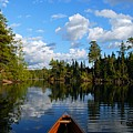 Quiet Paddle Print by Larry Ricker